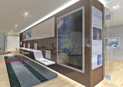 Visualisatie Rabobank Interieur